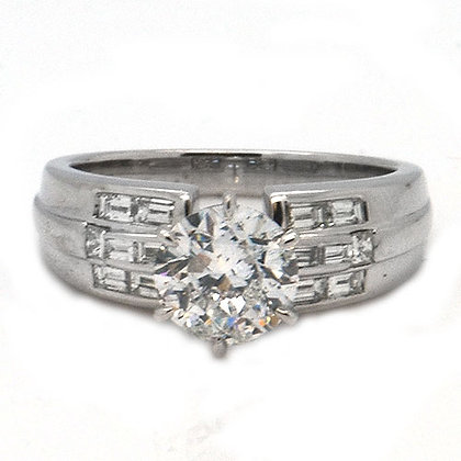 2ct ESI Certified Round Diamond Engagement Ring