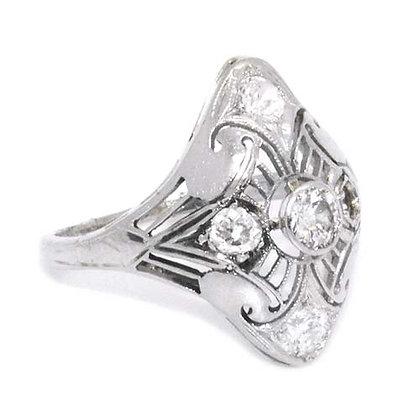 Original Antique Diamond Engagement Ring 1 Ct