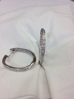 Inside/Out Diamond Hoop Earrings