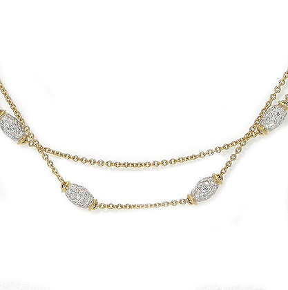 Gorgeous Diamonds By The Yard Necklace 3.5 Cts