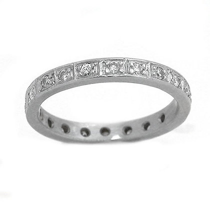 Original Antique Platinum Diamond Wedding Band