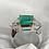 Thumbnail: Emerald Diamond 3 Stone Ring