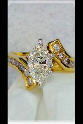 3/4 ct Yellow Gold Marquise Ring