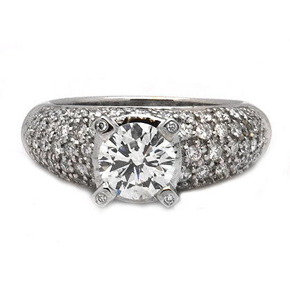 2.44 Antique Vintage Round Diamond Engagement Ring
