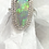 Thumbnail: 4.73 cts Australian Opal Two Rows Diamonds 1.05cts