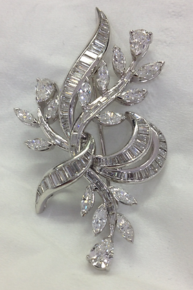 1940's Floral Branch Pin