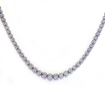 7.37ct FVS 97-Stone Diamond Tennis Necklace