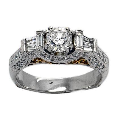 1.80 FSI Diamond Engagement Ring 18K WG & YG