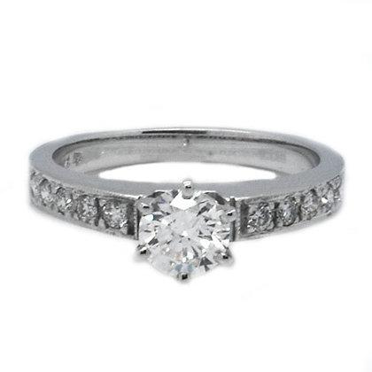 .94ct FSI Unique Round Cut Diamond Engagement Ring