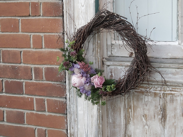 Silver Birch Wreath