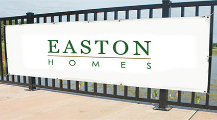 Easton Homes SIgn Banner