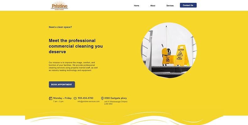 Pristine Services Website Development