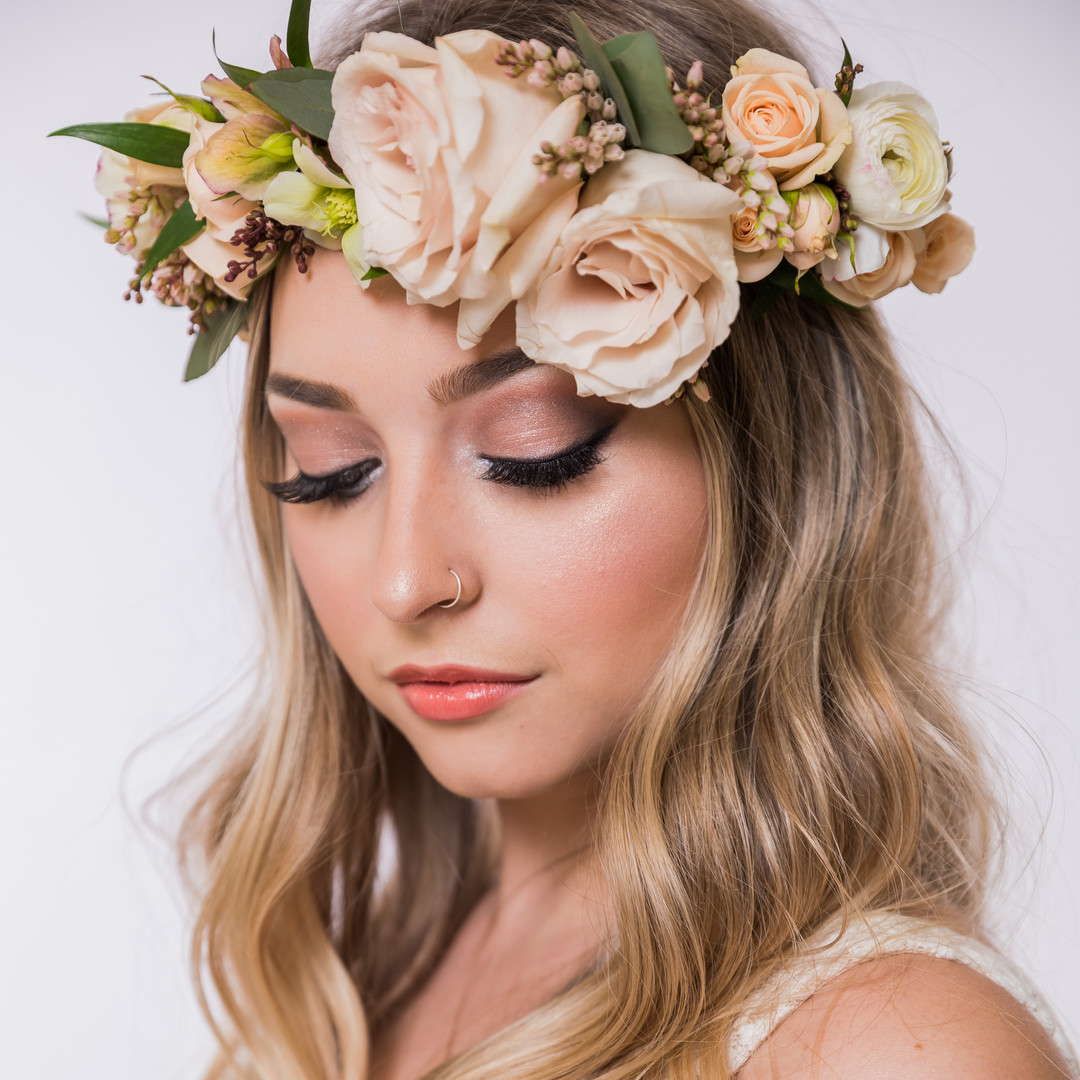 makeup and hair by Carly Martin of Glam In Van
