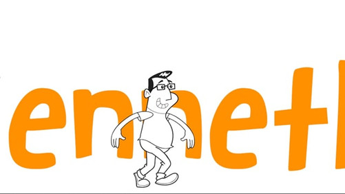 Animated website header