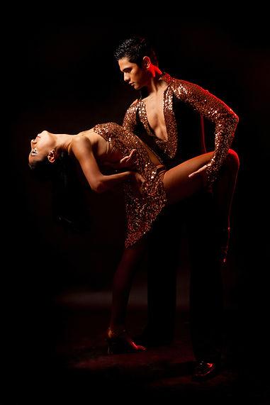 Pareja de baile latino