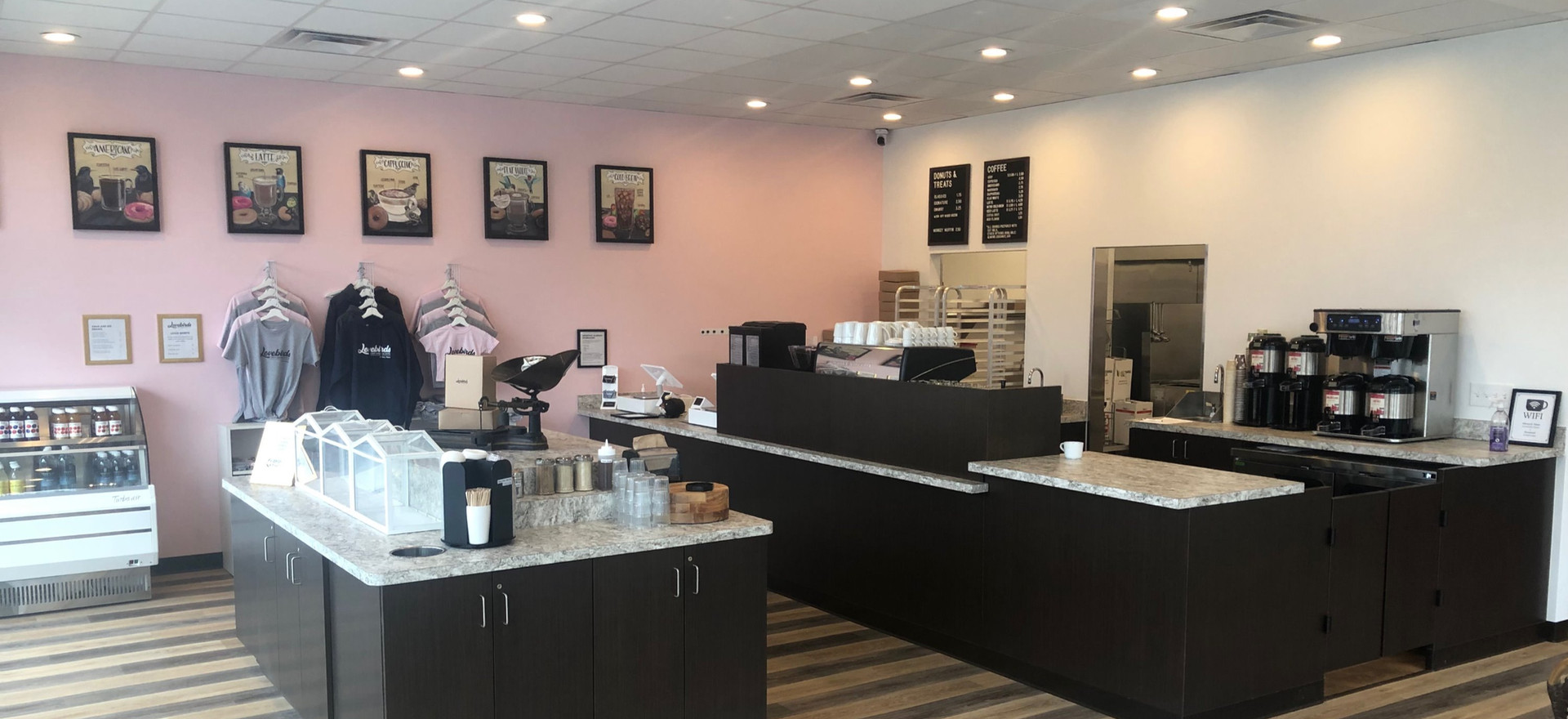 Ready for their Grand Opening at Lovebirds Donuts - Kittery, Maine