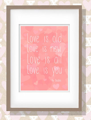 Framed Love Quote Print