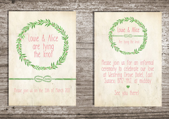 Leaf Wreath Invite