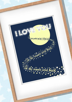 PERSONALISED & Framed I Love You Print