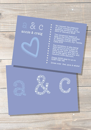 Initials Invite + More Colours Available