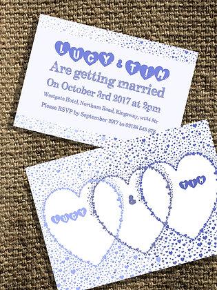 Indigo Hearts Invite
