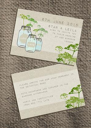 Mason Jar Invite