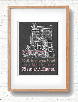 Personalised House Print - Created with your photo