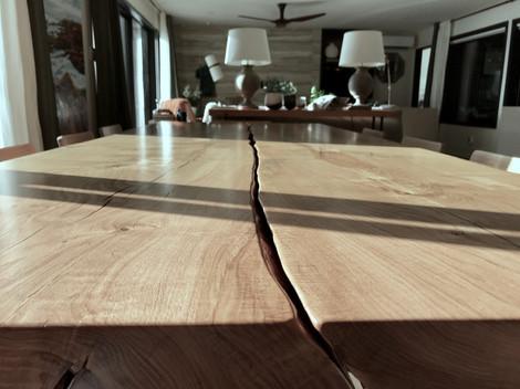 big oak table