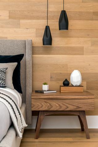 black walnut bedside table