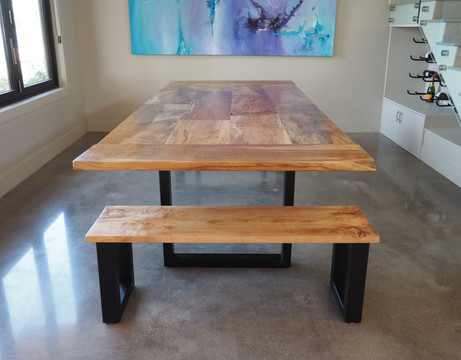 massive table in maple
