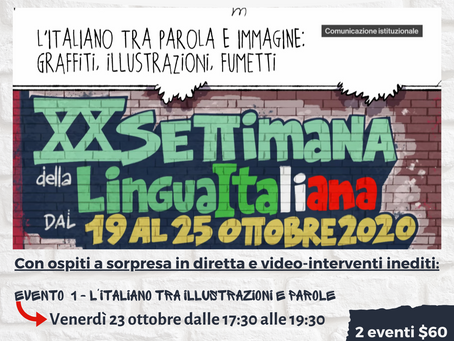 The 20th Week of Italian Language in the World - Events (Oct. 19-25, 2020)