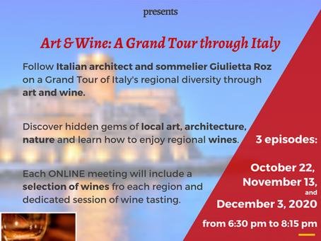 Art & Wine: A Grand Tour through Italy (last three events)
