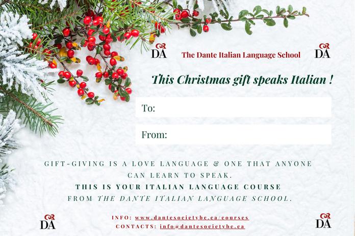 Dante Italian Language School Christmas