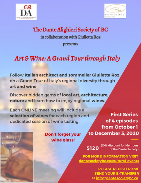 Art & Wine: A Grand Tour through Italy