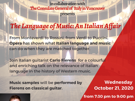 The Language of Music: An Italian Affair