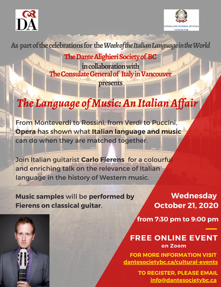 The Language of Music: An Italian Affair