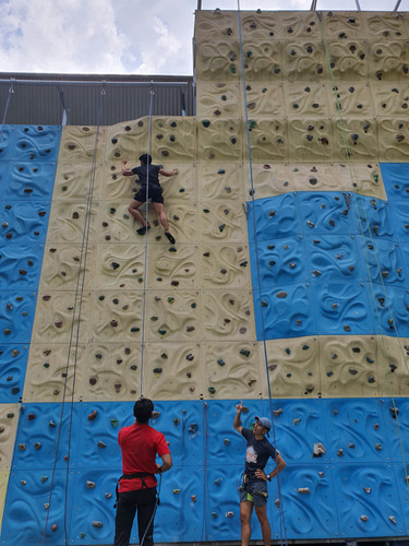 Learn to climb and belay with JTRACE instructors
