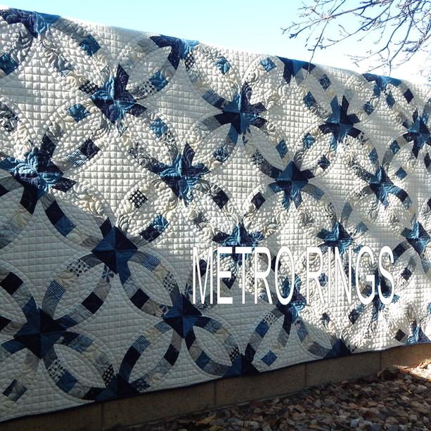 Metro Rings in Blue