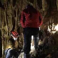 洞窟内サンプリング調査