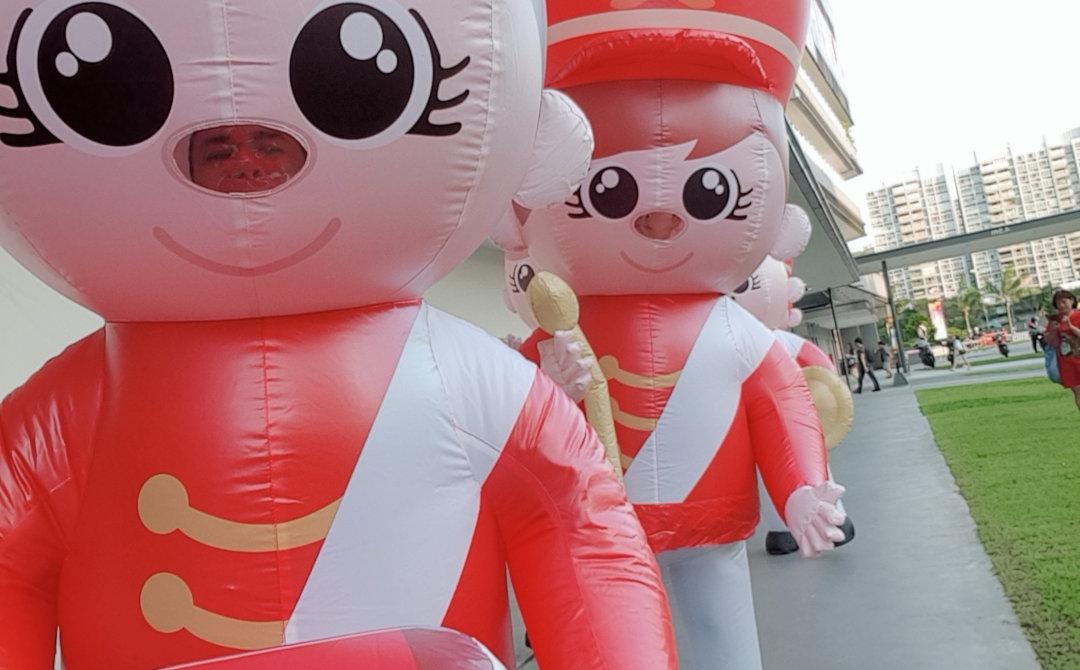 Marching Band Mascot Selfie