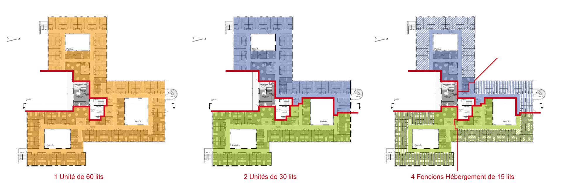 Agencement des étages