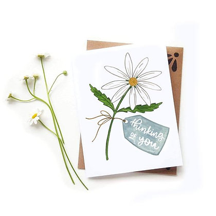 Thinking of You Daisy Card by Sketchy Notions