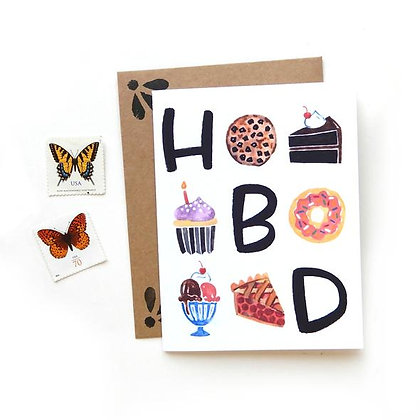 HBD Birthday Sweets Card by Sketchy Notions