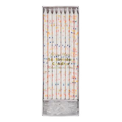 Neon Confetti Candles by Meri Meri