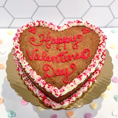 Valentines Heart Cookie Cake