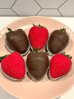 'Love U Berry Much' Chocolate Strawberries