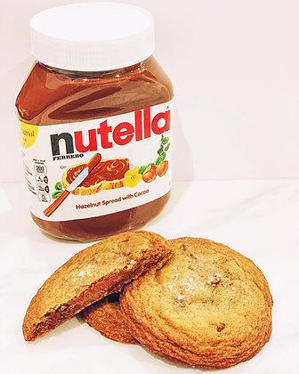 Nutella-stuffed Brown Butter Chocolate Chip