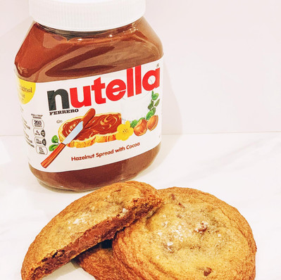 Nutella stuffed Brown Butter Chocolate Chip