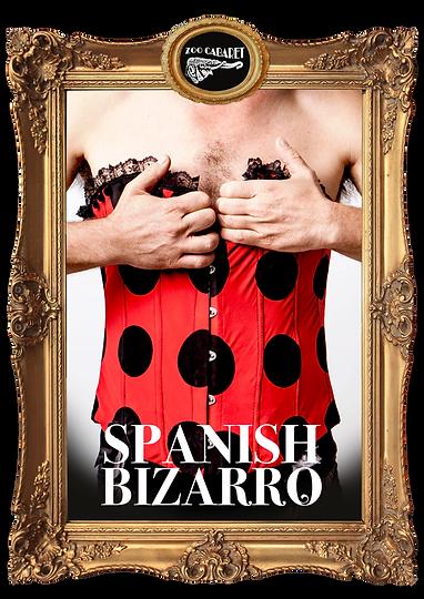 Cartel Zoo Cabaret Spanish Bizarro Teatro Revista Marco Dorado Corset Lunares