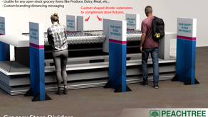 Peachtree Packaging & Display Designs In-store Dividers to Promote Social Distancing